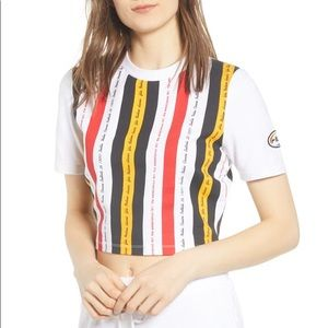 Fila Tops - Fila Juana Stripe Crop Top Tee T-Shirt